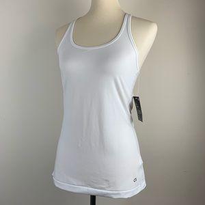 NWT White GapFit Performance Tank Top Fitness Wear